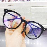 Lunettes de soleil mode Cadres Femme Blue Blue Block Verres Transparents ronds de lunettes de jeu de lunettes de travail pour hommes UV400 Protection