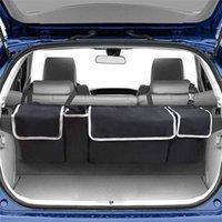 Huihom siège arrière de voiture Trunk Organisateur Backseat suspendu multi Pocket sac de rangement Automobile Voyage Arrimage Accessoires CX200822 Rangement
