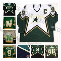 Custom Dallas Stars Qualsiasi nome numero 9 Mike Modano 56 Sergei Zubov 2 Derian Hatcher 6 Trevor Daley 23 Brian Brows 1990 CCM Hockey Jerseys