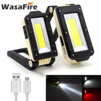 Weiß Rotlicht-LED Arbeits-Lampe tragbare USB aufladbare Taschenlampe Laterne mit magnetischen Haken für Auto-Reparatur Camping