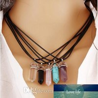 Fashion Hexagonal Prism Necklaces Gemstone Rock Natural Crys...