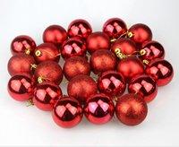 """24X Christmas Ball Ornamente 1.57"""" 4cm Weihnachtsdekoration-Kugeln Kleine Shatterproof Ball für Ferien Hochzeit Dekoration A11"""