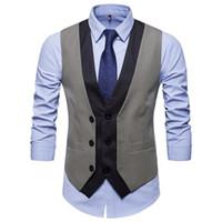 2020 нового прибытия платья жилет мужчины Slim Fit мужчины костюм жилет Мужского жилет Gilet Homme Повседневных рукава Формального Бизнес Jacket