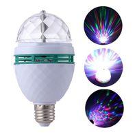 ليزر إضاءة RGB LED البلورة السحرية الكرة الليزر المرحلة إضاءة الأنوار عيد الميلاد للحزب ديسكو DJ شريط لمبة البسيطة أضواء المسرح LED