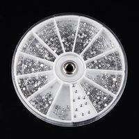 도매 2400Pcs 1.5mm의 클리어 네일 아트 반짝 Flatback 모조 다이아몬드 구슬 매력 크리스탈 보석 장식 액세서리 휠