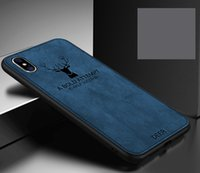 Simple Bussiness Style Case for Iphone 11Promax 11pro 11 X XS 7plus 8plus 7 8 6 6s Plus 6 6s DEER PRINTED Soft Cloth Produce