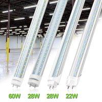 4피트 LED 전구 라이트 4 피트 LED 튜브 60W 18W 22W T8 형광등 6500K 차가운 흰색 공장 도매 28W 더블 행 LED가
