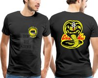 2020 Summer New Cobra Kai Karate Kid Movie Logo In Men'S Short Sleeve T Shirt Cotton Shirt