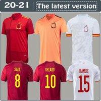 2020 Espanha camisa de futebol Camiseta España PACO MORATA A.INIESTA PIQUE retro Espanha 1994 2010 European Cup ALCACER SERGIO ALBA homens miúdo mulheres fo