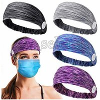 Tie-dye étnico Yoga Turban Headband elástica ajustável antiderrapante hairband Sports Sweat Basketball Tafilete estiramento Headbands