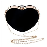 Shoulder Cross Bags Women Heart Shaped Evening Handbag Party Clutch Purse Korean heart shaped Shoulder Cross Bag Mujer May22