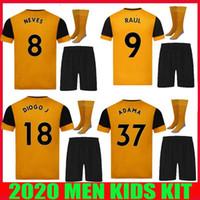KIT 2020 2021 jérsei dos lobos do futebol 20 21 MAILLOT DE PÉ J.MOUTINHO RAUL NEVES Podence CAVALEIRO Adama camisas de futebol homens crianças SET ADULTOS