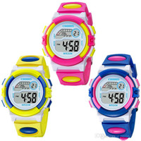 Design Mode-Mädchen-Jungen-Sport-LED-Digitaluhr COOBOS 0916 Relojes Para Niños Elektronische Multifunktions-Kind-Geschenk-Partei Kinderuhren