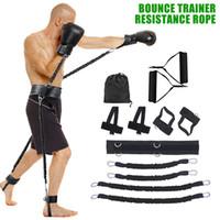 12 pçs / set Bounce Resistência Banda Fitness Bouncing Trainer Corda Sports Fitness Fitness Bands Definir equipamentos de treinamento de força saltando