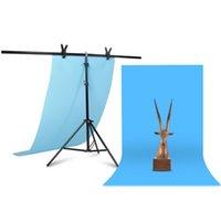 전문 사진 사진 배경막은 T-모양 배경 프레임 지원 시스템은 비디오 스튜디오에 대한 클램프와 스탠드