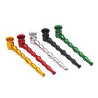 Metallo tubi di fumo Mini modello di bambù del tubo estraibile e lavabile tubo in acciaio inox alluminio pipe 6 stili GGA3694