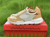 Tom Sachs x Mars Yard 2.0 TS pattini correnti degli uomini di sport Naturale Rosso acero Joint limitati autentici Sneakers Trainers con la scatola originale 36-46