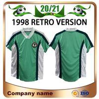 1998 Edição Retro # 10o Kocha Soccer Jersey Casa # 4 Kanu # 6 West # 9 Yekini Camisas # 15 Oliseh Uniformes de futebol de manga curta