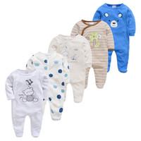 Recién nacido niña pijamas5pcs durmientes pijamas bebe fille algodón transpirable bebé pjiamas lj200821