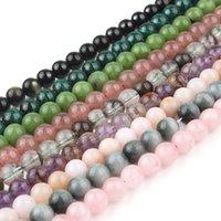 7.5 pollici Naturali Quarzo Rosa Malachite Obsidian Jade 6 8 10 millimetri rotonda perline di pietra allentati per monili che fanno del braccialetto della collana fai da te