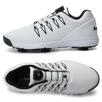 Professionale Mens Golf Shoes Bianco Nero impermeabile Campo da tennis Big Size 36-46 Erba esterna anti chioda slittamento Golf Shoes