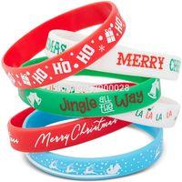300pcs Joyeux Noël Silicone Bracelet Bracelet Livraison Gratuite