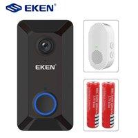 Eken V6 Smart WiFi-Video-Video-Türklingel 720P-Kamera-visuelle Gegensprechanlage mit Glockenspiel-Nachtsicht-IP-Türklingel Wireless Home-Sicherheitskameras
