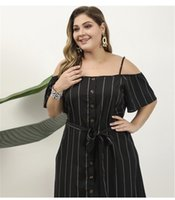 Stripe Print Off Shoulder Panelled Womens Designer Dresses Casual Females Clothing Plus Size Womens Casual Dresses Sexy