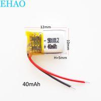 Оптовая 3.7V 40mAH 501012 Lipo аккумуляторная батарея литий-полимерные элементы для MP3-PAD DVD Bluetooth-гарнитура для наушников