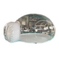 التجارية نفخ فقاعة شفافة خيمة التخييم مخصص 16FT قطر في الهواء الطلق نفخ واضح خيمة فقاعة للتخييم