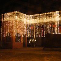 2 x 2m 3m Guirlande Icicule LED Rideau Fairy Lights Décorations de Noël pour salon de mariage Patio Party Fête Éclairage Éclairage