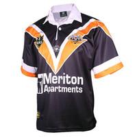 2000 WESTS TIGRES RETRO Jersey de rugby residenciales occidentales de época clásica de rugby talla de camisa casa S-5XL