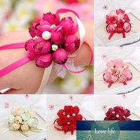 Kız Bilek Çiçek Gül Gelin Korsaj El Dekoratif Bileklik Bilezik nedime Bilek Çiçek Hediye 5 Renk