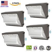야외 LED 벽 램프 120W 황혼 상업용 산업 wallback기구 조명 일광 5000K AC90-277V IP65 DLC ETL 등록