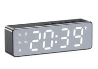 ساعة بلوتوث اللاسلكية سماعات متعددة الوظائف الإنذار الصوتي درجة الحرارة مرآة عرض مكبرات الصوت مضخم الصوت مشغل موسيقى باس