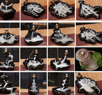 السيراميك حامل الصقيل الشلال ارتجاعي مبخرة مبخرة المخاريط ديكور المنزل 24 نمط البخور المخاريط الشعلة عصا KKA8036