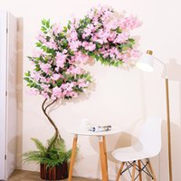 5pc lot Cherry Blossoms Tree Artificial Flowers 3 Fork Sakur...