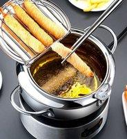 Fritadeira Frigideira vaso filtrante Termômetro para Cooker óleo Filtro Panela 2 tamanho KKA8032