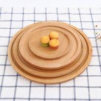 접시 차 서버 호텔 트레이 컵 홀더 볼 패드 식기 사용자 정의 DBC VF1612 플래터 라운드 나무 접시 접시 디저트 플레이트 초밥 접시 과일