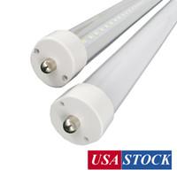 8フィートFA8 LEDチューブライト2400MM 8 FT T8 T10 T12シングルピン36W 45W 72W 144Wドアクーラー電球ライト交換用収縮90W蛍光灯