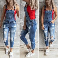 moda kadın tasarımcı kot Artı boyutu kadının giyimi Kadın femme yırtık kot Kadın Sadelik Elastik kuvvet delik Kemer pantolon E83001