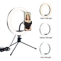 Dimmable Led 26inch câmera do estúdio Luz Anel Photo Phone Vídeo Luz anular Lâmpada Com Tripés selfie vara Anel encher de luz