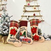 Creative Père Noël Chaussettes de Noël Cute Cartoon Bas bonbons Sac cadeau Décorations de Noël Arbre de Noël Ornements Fête RRA3459