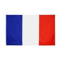 50 stks 90x150cm FRANKRIJK FLAG POLYESTER GEDRUKD Europese bannervlaggen met 2 koperen doorvoertjes voor het opknopen van Franse nationale vlaggen en banners