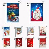 Weihnachtsgarten-Flags 30 * 45cm Außen Hanging Garden Banner Frohes Neues Jahr Weihnachten Banner Home Partydekoration Sea Shipping DDA488