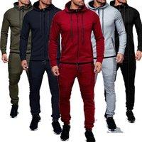 ZOGGA Veste mode + pantalon de sport Homme Survêtement à capuche Printemps Automne Hommes Marque Vêtements Hoodies Hommes Set Survêtement