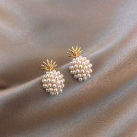 Neue geometrische Pearl Frauen Klassische Ohrstecker Ananas Perle Ohrringe Weibliche Mode Ohrringe Weibliche Schmuck