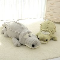 60-140cm Big Size Simulation Crocodile Plush Toys Soft Stuffed Animals Cushion Pillow Toys Home Decor Kids Girls Xmas gifts MX200716