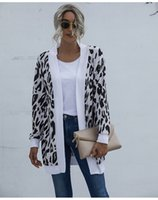 4 컬러 S-XXL 여성 캐주얼 긴 소매 니트 스웨터 느슨한 카디건 레오파드 오픈 전면 트렌치 코트 60297138644126 인쇄하기