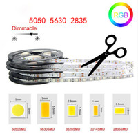 Luz de tira LED DC12V 5M 300 LEDS SMD3528 5050 5630 Diodetape Single Colores Cinta de alta calidad Flexibles Decoation Lights